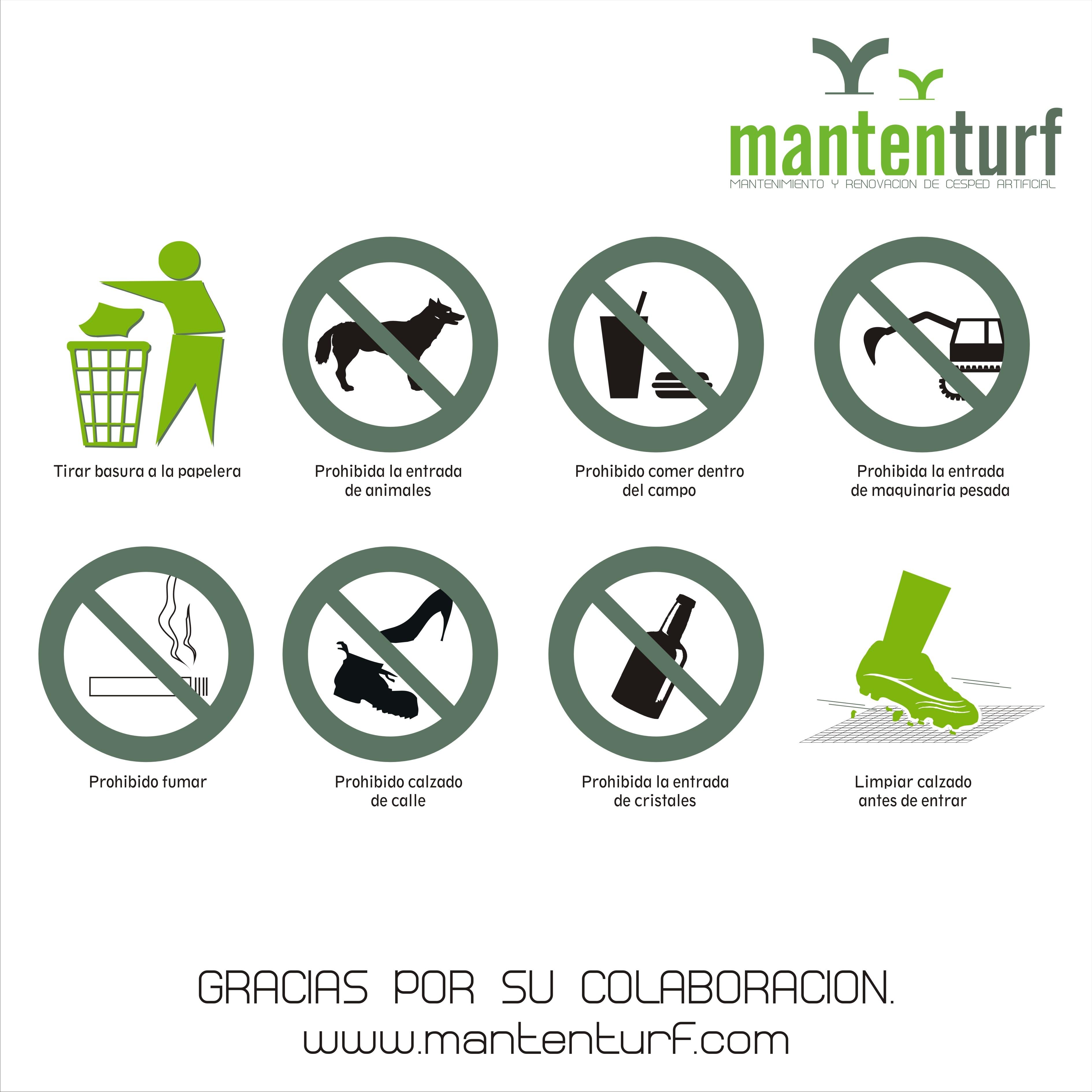 cartel normas de uso campo