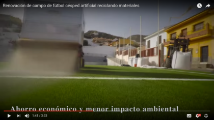 vídeo renovacion campo de fútbol Cártama